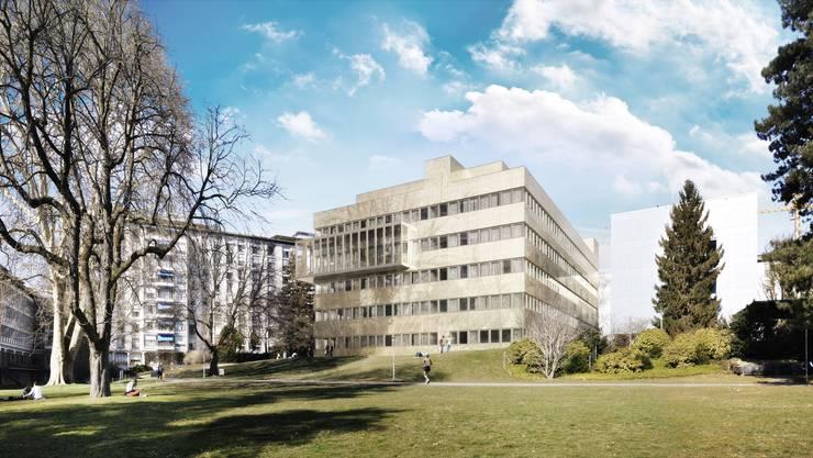 Das Unispital Zürich soll für 2,84 Milliarden Franken erneuert werden. Ein Provisorium im Park soll während der zirka 20 Jahre langen Sanierung genutzt werden.