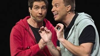 Stellen Rasur ein: Manuel Burkart (r) und Johnny Fischer (Bild SRF)