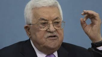 Der palästinensische Präsident Mahmud Abbas will keines der mit Isreal vereinbarten Abkommen mehr umsetzen, aus Protest gegen den Abriss palästinensischer Häuser durch die israelische Armee. (Archivbild)