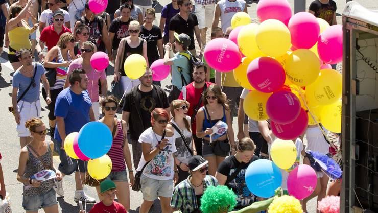 Pride-Parade: «Teilweise passieren Ausgrenzungen innerhalb von Minderheiten. Dem wollen wir entgegenwirken», sagt Veranstalter David Reichlin