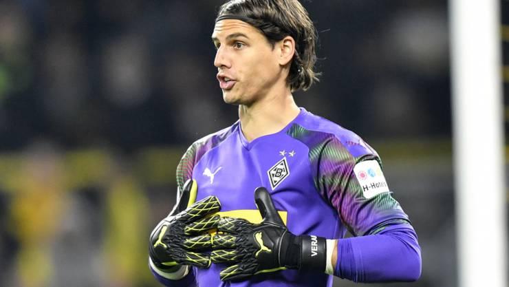 """""""Wir lassen uns den Kopf nicht verdrehen"""", sagt Gladbachs Keeper Yann Sommer, angesprochen auf des Hoch seiner Borussia"""