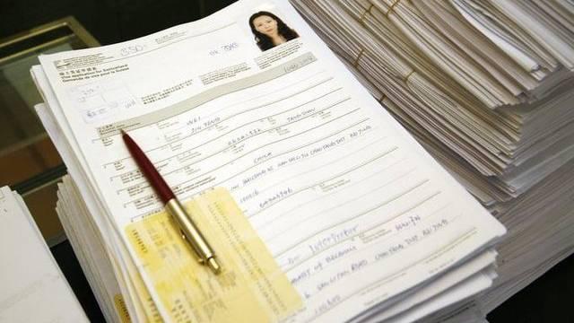 Chinesische Visa-Anträge in der Schweizer Botschaft in Peking (Archiv)