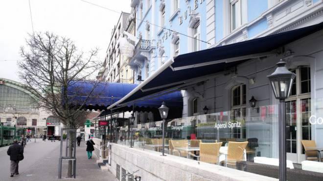 Hotel Euler will Terrasse beheizen. Foto: Kenneth Nars