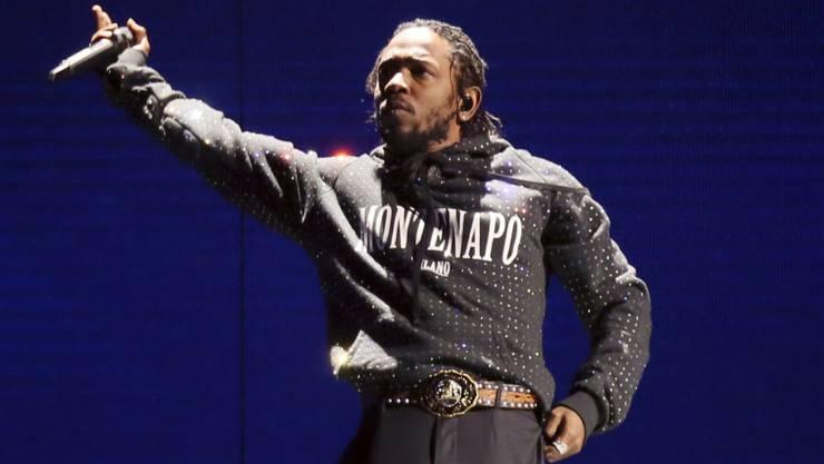 Der Rapper Kendrick Lamar kann sich Chancen auf einen Grammy ausrechnen. Er wurde in acht Kategorien nominiert. Verliehen werden die Grammys am 10. Februar 2019 in Los Angeles. (Archivbild)