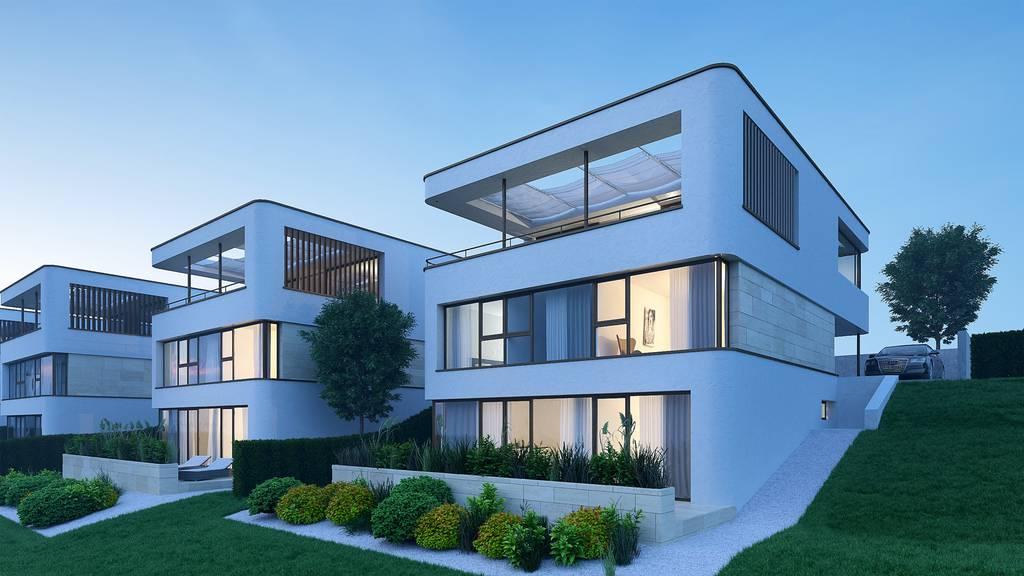 Eine 4-Zimmer-Wohnung in der Zürcher Innenstadt kostet fast gleich viel wie diese Neubauten in Niederteufen.