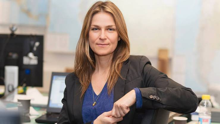 Denise Langenegger: Reporterin Tennis