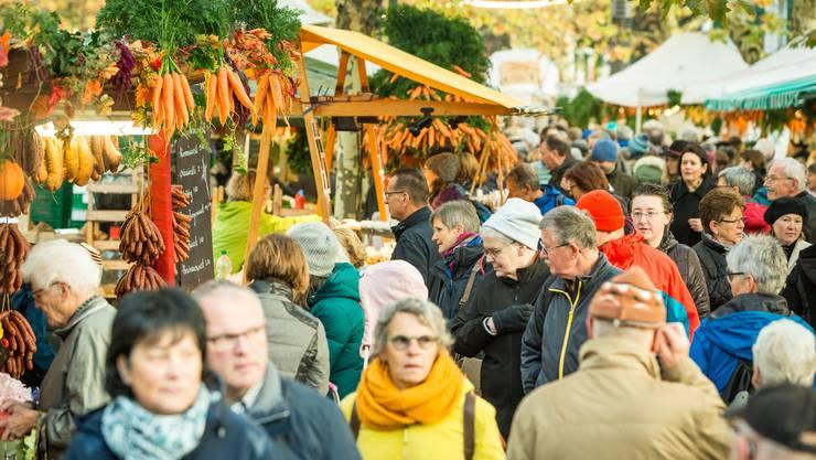 Impressionen vom traditionellen 36. Rüeblimärt im Aarauer Graben.