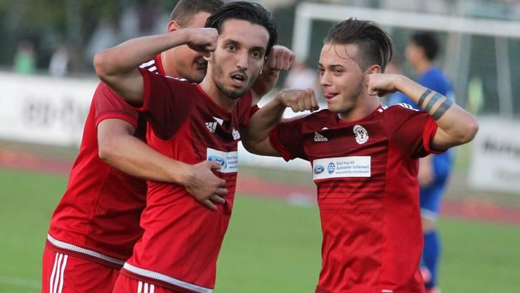 Die beiden SCZ Topskorer Vojan Cvijanovic (l.) und Matteo Muscia (r.) durften gegen Olten wieder jubeln.