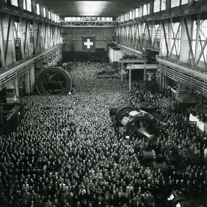 Jubiläum: Die 50-Jahr-Feier von Brown Boveri & Cie 1941 in Baden.