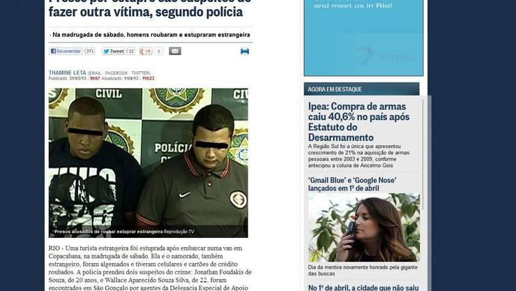 So berichtet die brasilianische Presse über den Vorfall