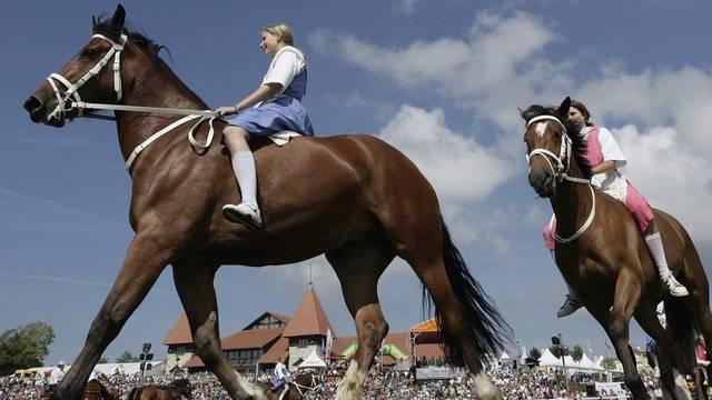 Jährlich – so auch 2009 – feiert in Saignelégier das «Glück dieser Erde» sein Festival. (Archiv)