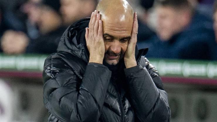 Pep Guardiola erlebt als Trainer von Manchester City schwierigere Tage als auch schon