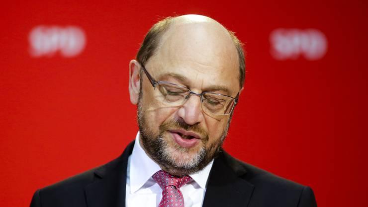 Schwer enttäuscht: SPD-Kanzlerkandidat Martin Schulz.
