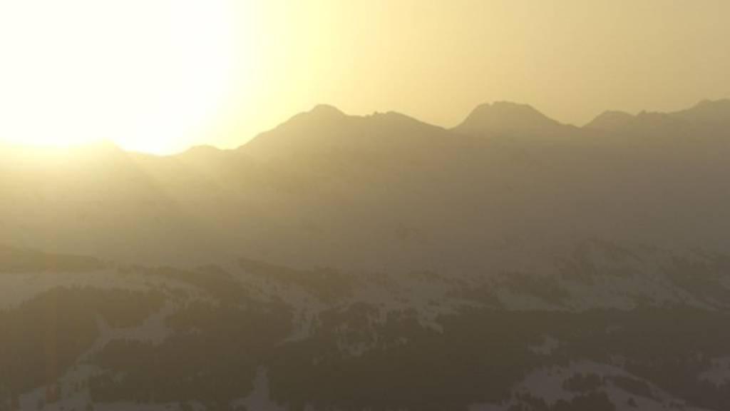 Mit Saharastaub: So schön war heute der Sonnenaufgang