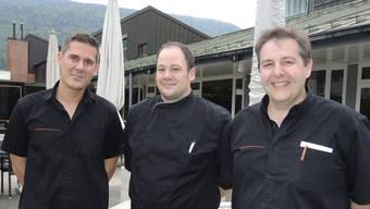 Team im Parktheater (v.l.): Renato Citrini, Betriebsleiter und Küchenchef, Felix Algermissen, Koch, und David Scheidegger, Inhaber «Cucina Arte».