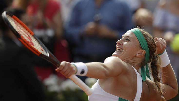 Kristina Mladenovic avancierte in Paris zum Publikumsliebling.