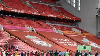 Der FC Liverpool wird seine Meister-Trophäe am nächsten Mittwoch in der Anfield Road erhalten und bejubeln können - allerdings ohne Zuschauer