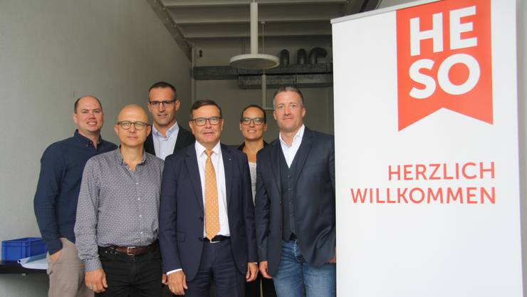 Sie freuen sich auf die diesjährige Herbstmesse Solothurn (v. l.): Alain Walter, Stephan Oberli, Thomas Zindel, Walter Wirth, Michèle Müller und Urs Unterlerchner.