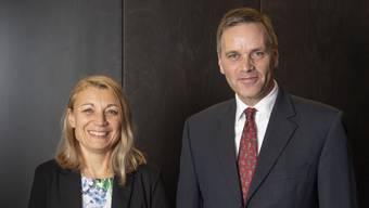 Yvonne Feri und Jean-Pierre Gallati vor der Wahl.