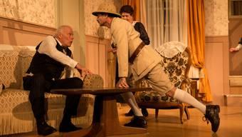 Der dramatische Theaterverein Untersiggenthal probt das Stück «Arsen und Spitzehübli»