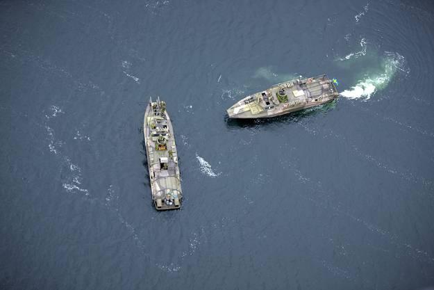 Die schwedische Flotte patrouilliert die Küstengewässer