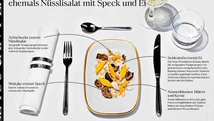 Neue Kreationen statt traditionelle Gerichte: Artischocken könnten den wegen der Hitze verbrannten Nüsslisalat ersetzen.