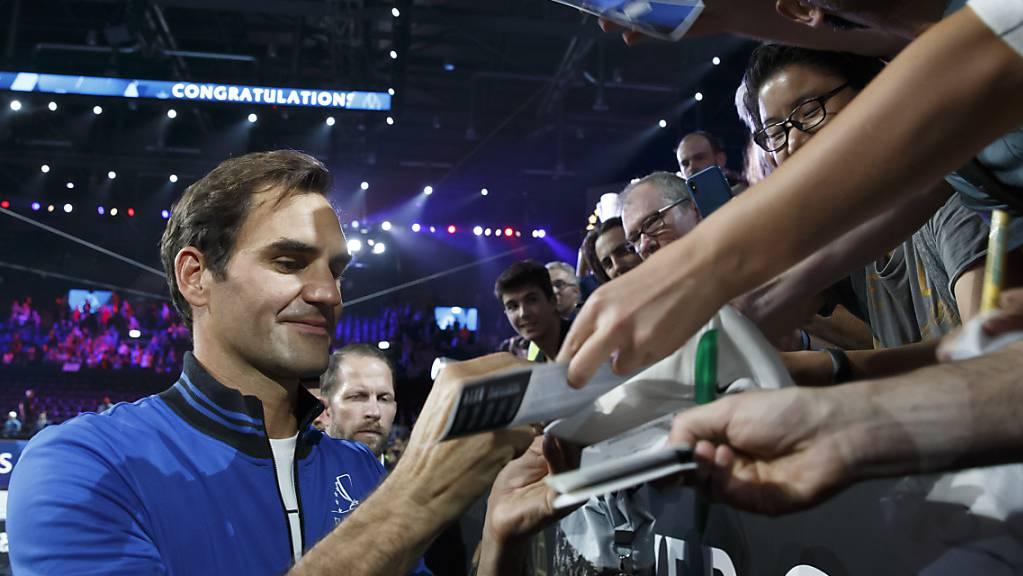 In diesem Jahr der grosse Abwesende: Roger Federer fehlt beim Laver Cup ebenso wie Rafael Nadal und Novak Djokovic.