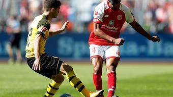 Ab dieser Saison Teamkollegen: Abdou Diallo (rechts, noch im Dress des FSV Mainz) und Dortmunds Christian Pulisic