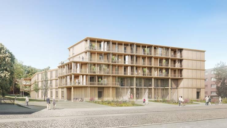 Gret Loewensberg Architekten und Clea Gross Architekten sahen einen städtischen Holzbau vor. Auch hier hätten sich die Seniorinnen und Sernioren wohl gefühlt.
