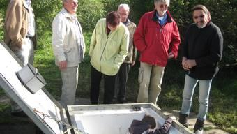 Zahlreiche Interessierte nutzten die Gelegenheit, das Zeiher Grundwasserpumpwerk Zwimatt zu besichtigen.