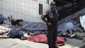 Opfer des Brandes in einer peruanischen Klinik