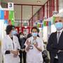 Bundesrat Alain Berset besuchte unter anderem das Corona-Impfzentrum im Genfer Universitätsspital.
