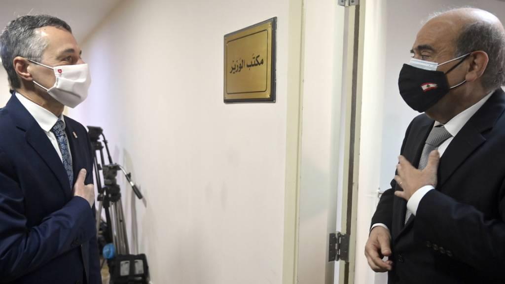 Bundesrat Cassis schliesst Dreiländer-Tour in Beirut ab