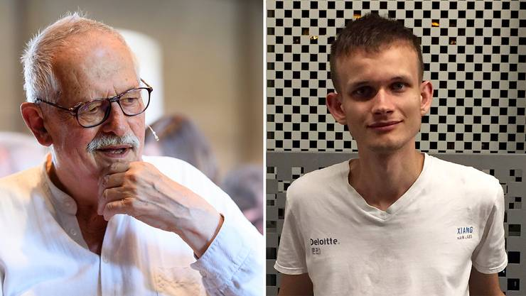 Hansjörg Schneider und Vitalik Buterin