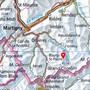 In der Region des Col du Tournelon Blanc (roter Pfeil) auf dem Gebiet der Gemeinde Bagnes VS ging am Samstag eine Lawine nieder. Vier Tourenskifahrer wurden verletzt.