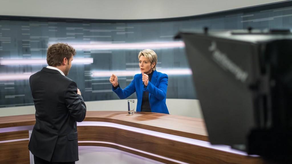 Karin Keller-Sutter stellte sich den Fragen von Tagblatt-Chefredaktor Stefan Schmid.