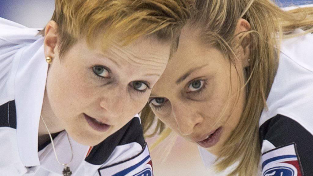 Das erfahrene Wischer-Team der Schweizerinnen: Franziska Kaufmann (links) und Christine Urech