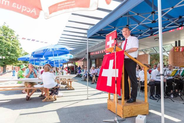 1. August-Feier in Untersiggenthal mit Gastredner Landammann Alex Hürzeler.