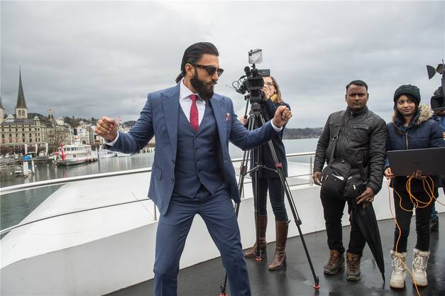 Bollywoods neuer Topstar: Ranveer Singh, hier bei einem Auftritt 2017 in Luzern, ist Botschafter von «Schweiz Tourismus». Dominik Wunderli