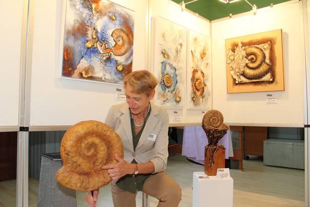 Annie Deiss haben es schon von Kindseinen an die Ammoniten angetan