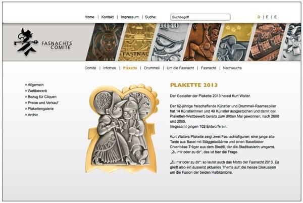 Auf seiner Homepage informierte das Comité aus Versehen über die neue Plakette.
