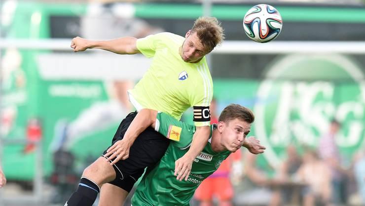 Wohlens Captain Joel Geissmann (l.) überzeugte gegen St. Gallen. Wagner