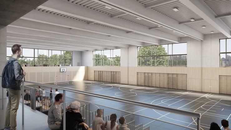 Innenansicht der zukünftigen Hofmatten-Halle in Wohlen