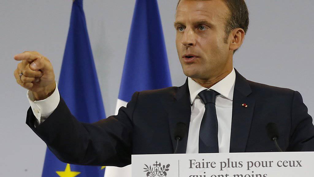 """""""Wenn ich über die Strasse gehen würde, würde ich Ihnen einen Job finden"""": Frankreichs Präsident Emmanuel Macron. (Archivbild)"""
