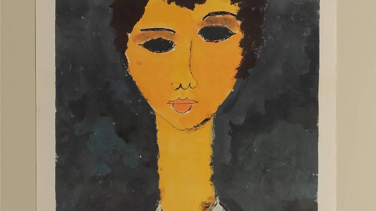 «War nicht so schwer»: Freihändige, aber treffende Kopie eines Modigliani-Porträts, gemalt von der elfjährigen Primarschülerin Lucia aus Basel.