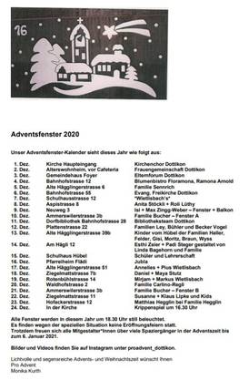 ProAdvent Dottikon 2020