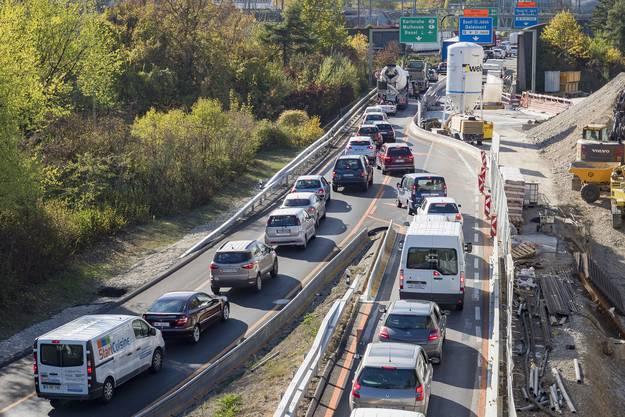 An der Hagnau (im Bild) steht der Verkehr auf allen Abschnitten in Richtung Basel/Deuschland.