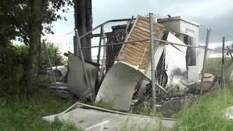 Handy-Antenne in Denens VD durch Explosion zerstört.
