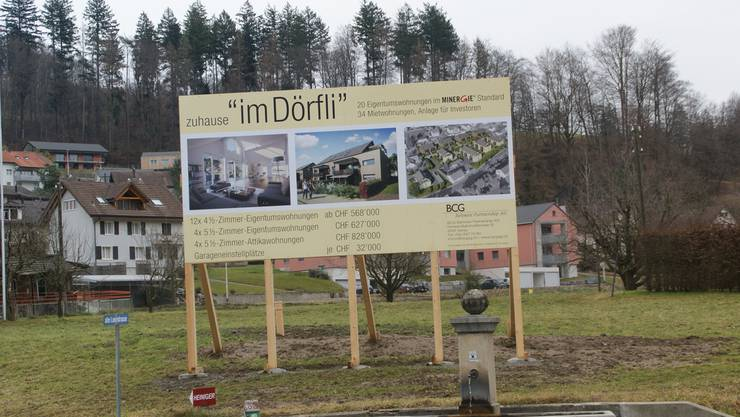 Hier wächst Teufenthal: «Im Dörfli» sollen insgesamt 54 Wohnungen und ein Begegnungsplatz entstehen. Sibylle Haltiner