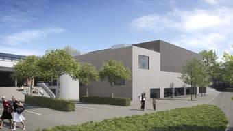 2022 soll die neue Dreifachturnhalle Hofmatten eröffnet werden.